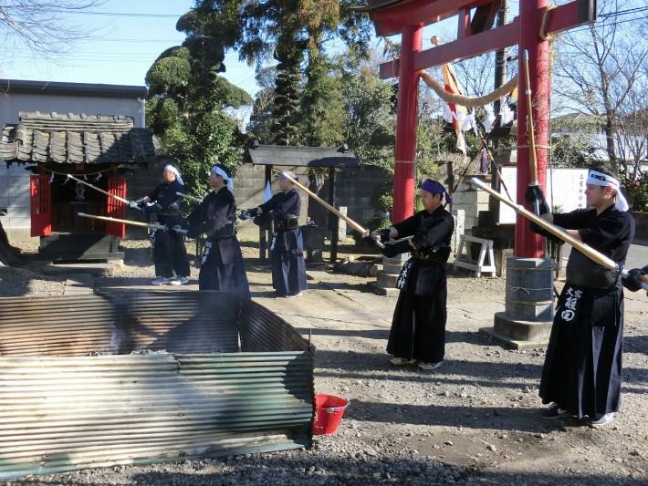 土屋氷川神社奉納稽古2